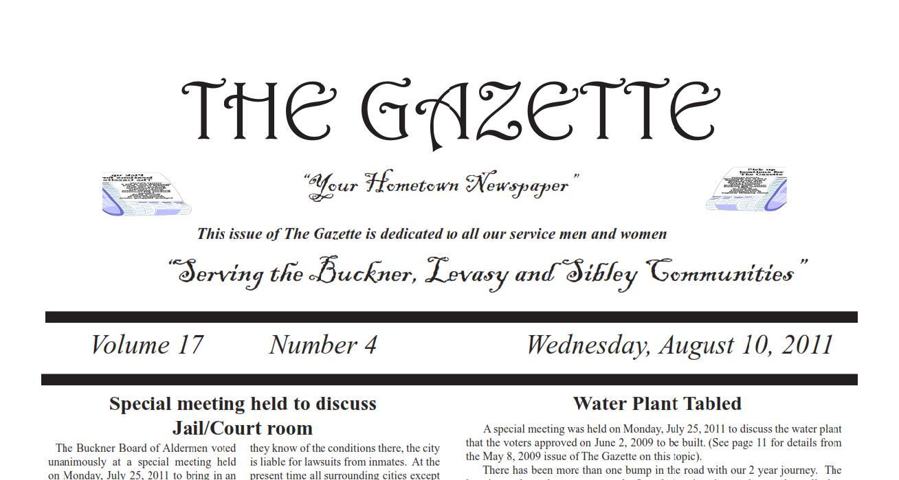 August 10, 2011 – Newspaper on line